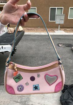 White leather briefcase bag 90s handbag case retro vintage cute bag buckle handle FINLAND details medium bag 90s 00s kawaii streetstyle