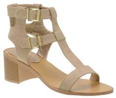 Qupid Kirby-06, Cute T-Strap Gladiator Block Heel Sandal  $37.99