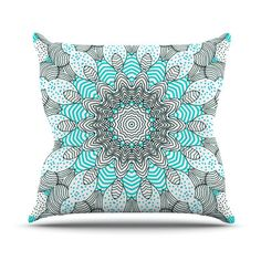 East Urban Home Dots and Stripes by Monika Strigel Outdoor Throw Pillow Color: