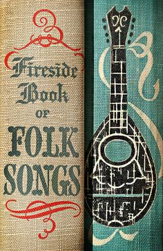 Vintage folk song book spines. #reading #books