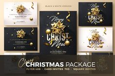 Christmas Invitation - Psd Package  - Templates
