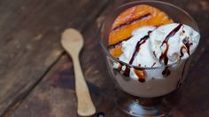 Grilled Peaches with Ice Cream & Balsamic