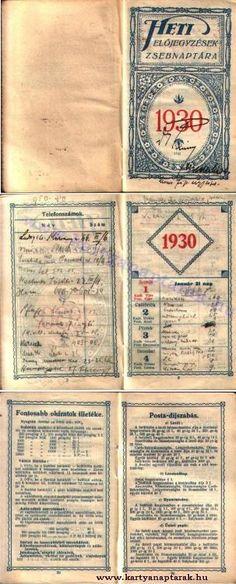 1930 - 1930_0003 - Régi magyar kártyanaptárak