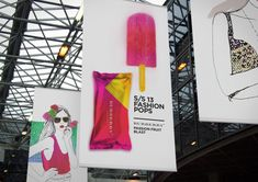 S/S13 Fashion Pops by Lara Atkinson, via Behance