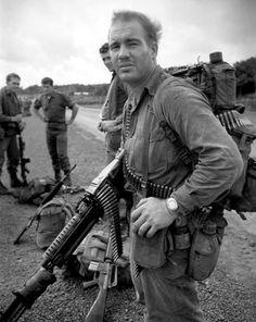 Soldier of Royal Australian Regiment with M60 in the Vietnam War