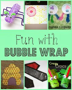 Creative Uses for Bubble Wrap - Crafting in the Rain Bubble Wrap Crafts, Bubble Wrap Art, Recycle Bubble Wrap, Recycled Crafts Kids, Craft Projects For Kids, Diy For Kids, Recycled Art, Craft Ideas, Eyfs Activities