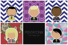 I'm not sure who the artist is, it was in a random facebook post. Pentatonix Superfruit Avi Scott Kevin Kirsten Mitchie <3 can't sleep love fanart