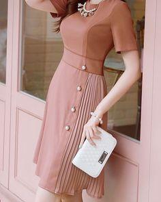 Korean Women`s Fashion Shopping Mall, Styleonme. Stylish Dresses, Women's Fashion Dresses, Elegant Dresses, Pretty Dresses, Vintage Dresses, Beautiful Dresses, Casual Dresses, Awesome Dresses, Mode Abaya