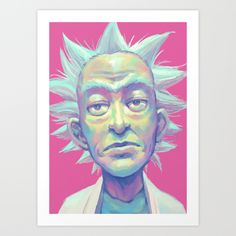Rick Sanchez Art Print by Vetsa - $15.60
