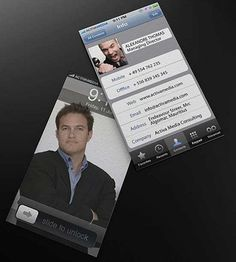 Cool business card for facebook people business cards pinterest 25 most creative business cards iphone version reheart Images
