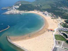 Basque Country, Bizkaia, Gorliz Beach