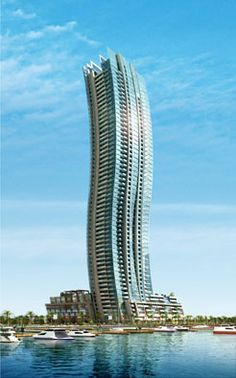 Iris Mist Tower Dubai by Atkins Architects :: 54 floors, height 200m