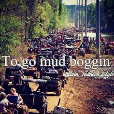 mud boggin...