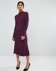 Whistles Fit And Flare Rib Dress