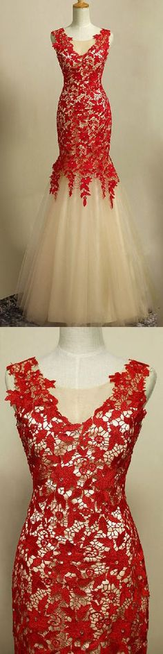 Charming Prom Dress,Elegnat Tulle Mermaid Prom Dress with