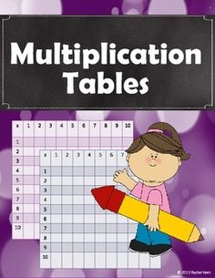 These multiplication tables will help students discover patterns with multiplication! They are great for review, extra practice, math centers, or early finishers.