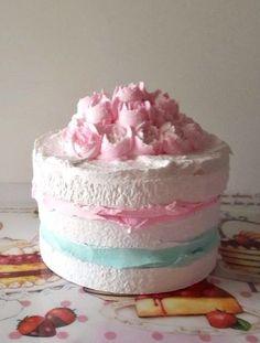 NAKED FAKE CAKE, MARIE ANTOINETTE FAKE CAKE PHOTO PROPS, SHABBY COTTAGE DECOR #FakeCupcakeCreations