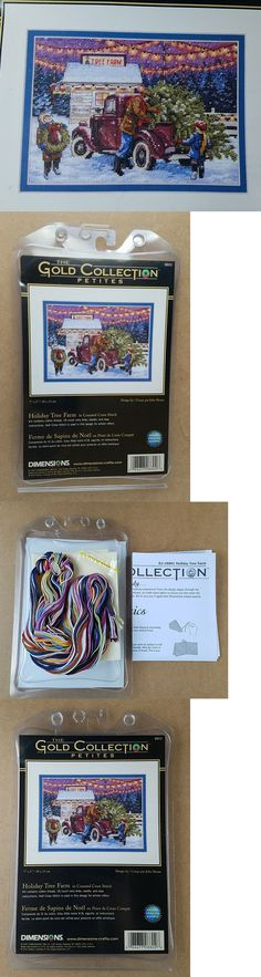 Cross Stitch Kits 34017: Dimensions Gold Collection Petites Cross Stitch Kit Holiday Tree Farm Rare -> BUY IT NOW ONLY: $99.99 on eBay!