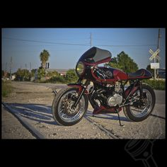 """#Honda #CB400F #CafeRacer built by #DimeCityCycles called """"The Four Hundred"""" - More details can be seen at http://www.dimecitycycles.com"""