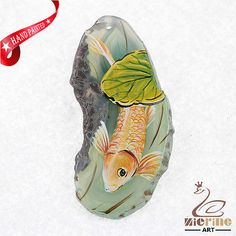 HAND PAINTED FISH GEMSTONE STONE  NECKLACE PENDANT BEAD ZL80 21917 | Clothing, Shoes & Accessories, Unisex Clothing, Shoes & Accs, Other Unisex Clothing & Accs | eBay!