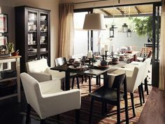 Norn s table and idolf chair ikea pinterest chairs for Luminaire ikea decoration maison