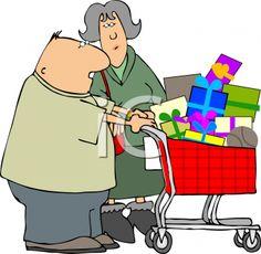 A couple shopping