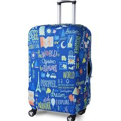 Abstract Color Art Print Luggage Covers Apply to 29-32 Inch Travel Suitcase