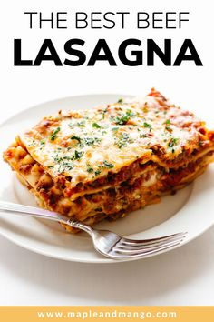 Homemade Lasagna Recipes, Easy Lasagna Recipe, Pasta Recipes, Ultimate Lasagna Recipe, Food Dishes, Main Dishes, Parmesan Salmon, Cheese Lasagna, Bechamel Sauce