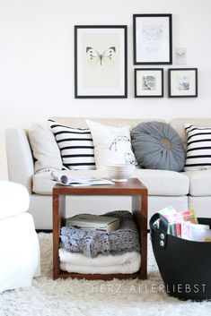 Love this neutral living room decor