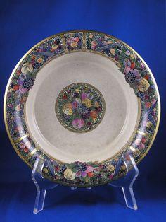 "American Satsuma Fruit Design Centerpiece Bowl (Signed by Atlan Club Member ""Francis A. Barothy""/c.1901-1928)"
