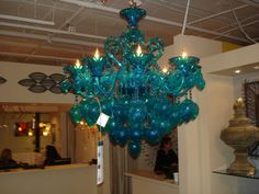 Lighting in turquoise  http://www.idssuncoast.com/