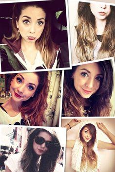 she has the best fashion and beauty videos! Zoella Hair, Sprinkle Of Glitter, Makeup Aisle, Zoe Sugg, Joey Graceffa, Celebs, Celebrities, Woman Crush, Beautiful People