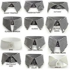Dress Shirt Collars for Different Face Shapes Button Italian. Dress Shirt Collars for Different Face Shapes Sharp Dressed Man, Well Dressed Men, Do It Yourself Fashion, La Mode Masculine, Collar Styles, Types Of Collars, Gentleman Style, Modern Gentleman, Mode Style
