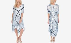 Lucky Brand Printed High-Low A-Line Dress