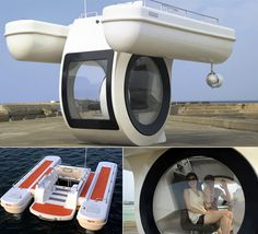 Mini submarine... When you get tired of being underwater you can go to the top deck & sunbathe