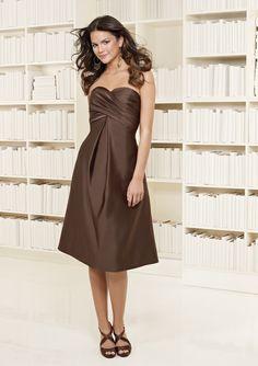 Mori Lee chocolate brown party dress