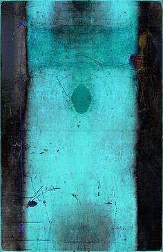 linda vachon / tête de caboche  #art #paintings #turquoise