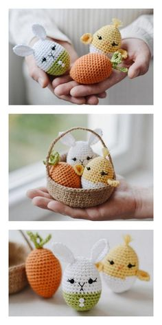 Newborn Crochet Patterns, Easter Crochet Patterns, Crochet Bunny, Crochet Patterns For Beginners, Crochet Patterns Amigurumi, Crochet For Kids, Holiday Crochet, Egg Free, Stuffed Toys Patterns