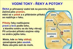 VODSTVO ČESKÉ REPUBLIKY :: Béčko-Tc Grammar, Montessori, Children, Kids, Homeschool, Language, Science, Teaching, Education