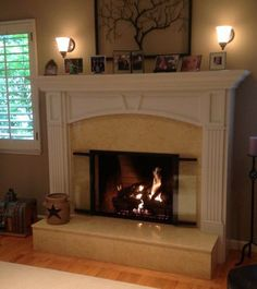 Prefab Fireplace, Fireplace Brick, Modern Fireplace, Fireplace Design, Fireplaces, Fireplace Feature Wall, Fireplace Glass Doors, Glass Replacement, Dancing