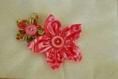 fabric flowers and buttons! who could ask for more?