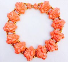 """William de Lillo Coral """"Crystal"""" Collar 1974 
