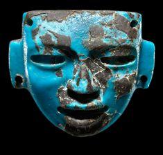 Máscara de turquesa teotihuacana.  Período Clásico. Altiplano Central Mexicano. Teotihuacan México.