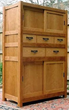 Cherry Linen Cabinet by Paul Wilson, a member of the Guild of ...