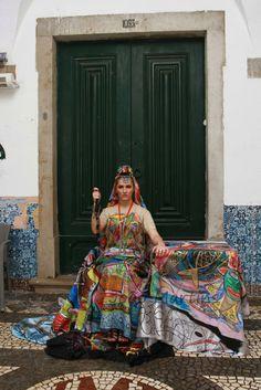 Photo shot in Faro Portugal Model Katarzyna Grychowska Photographer Joao Martin Fashion design Erwin Michalec