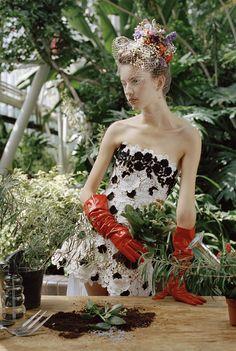Belles Plantes: Clémentine Deraedt, Shanna Jackway, Eliza Thomas by Michal Pudelka for Numéro #167 October 2015