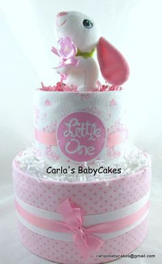 Girl diaper cake | Baby shower gift | Baby sprinkle gift | Girl baby shower…