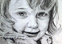Custom pencil portrait drawing Child portrait Anna Gilhespy. Visit www.annagilhespy.com for more