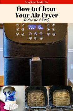 This guide will provide you all of the tips and tricks on how to clean an air fryer, remove baked-on grease using baking soda, and show you how easy it is to clean the heating element on the appliance. Diy Home Cleaning, Diy Cleaning Products, Cleaning Hacks, Pancreas Health, Cleaning Grease, Grease Cleaner, Air Fryer Pork Chops, Air Fryer Chicken Wings, How Do You Clean