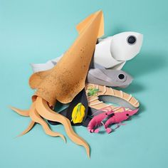 Paper Craft Sculptures Of Food 5